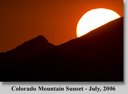 Colordado Mountain Sunset - July, 2006